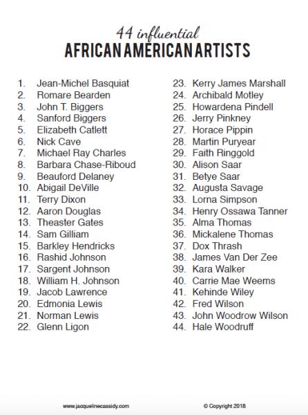 african american artist list